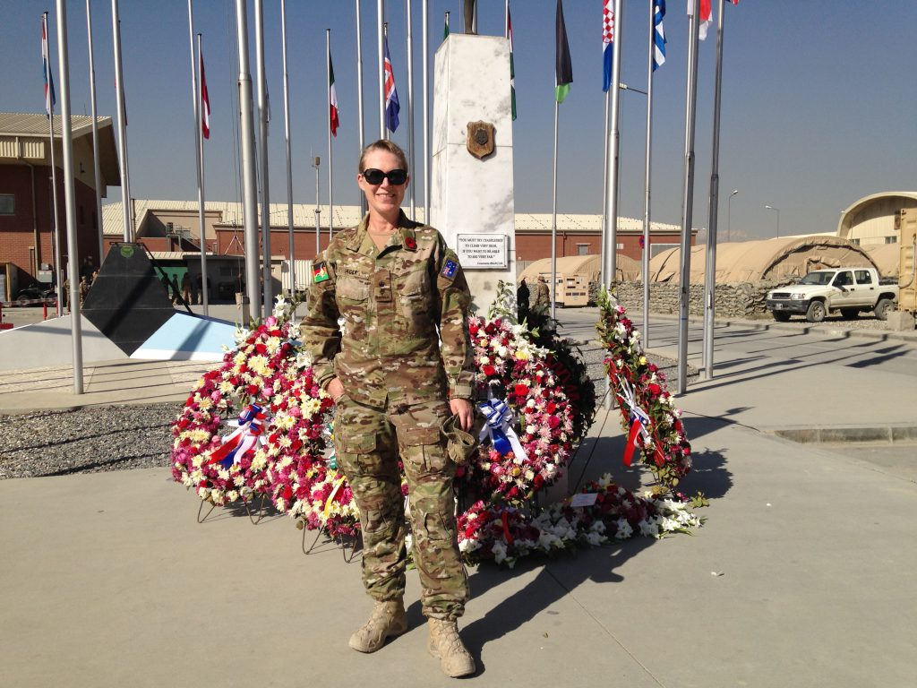 Michelle Campbell, 7 months into an 8 month deployment in Kabul