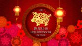 Welcome to the year of the Golden Pig 新年快乐